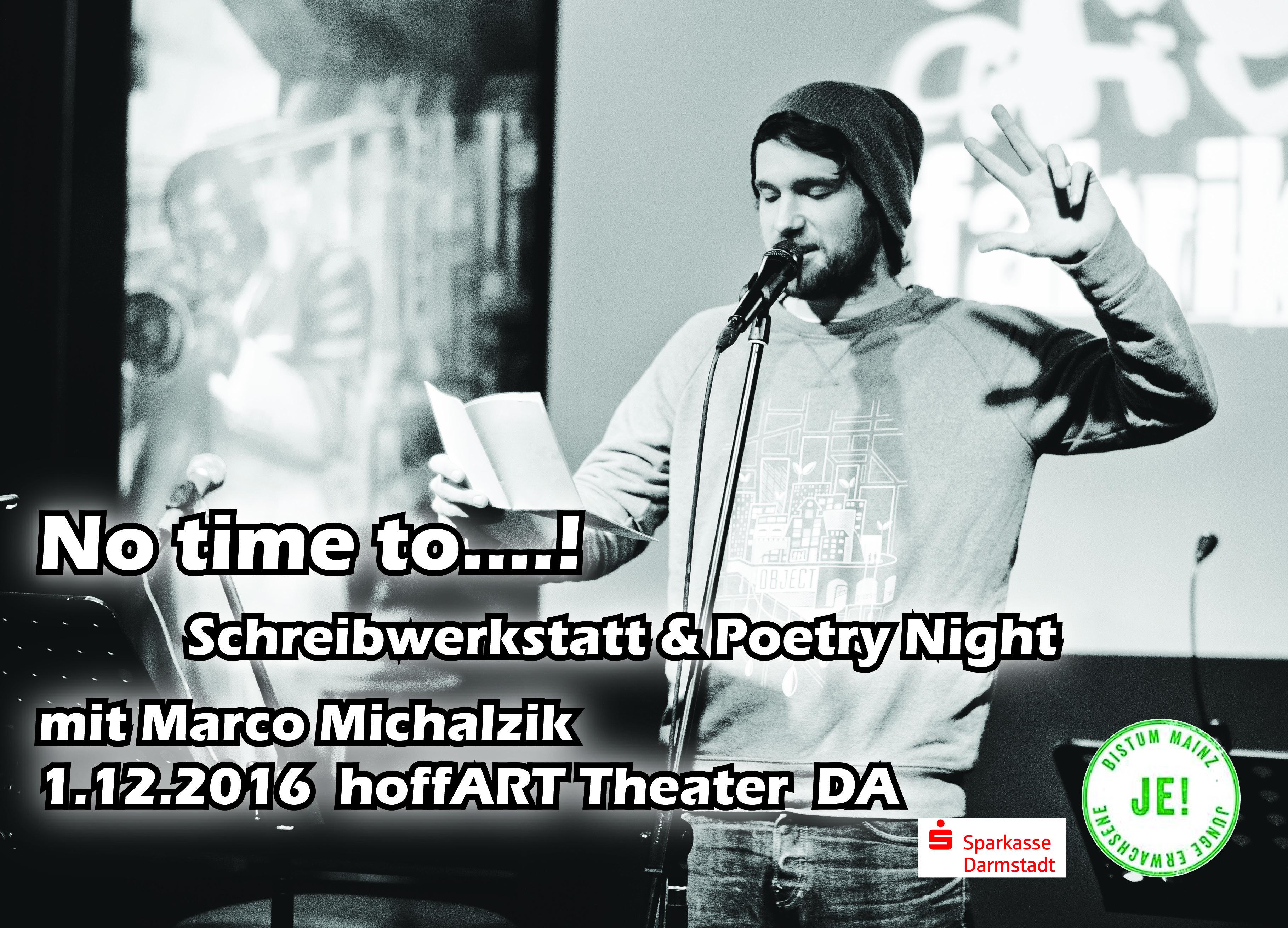Schreibwerkstatt & Poetry Night mit Michael Michalzik