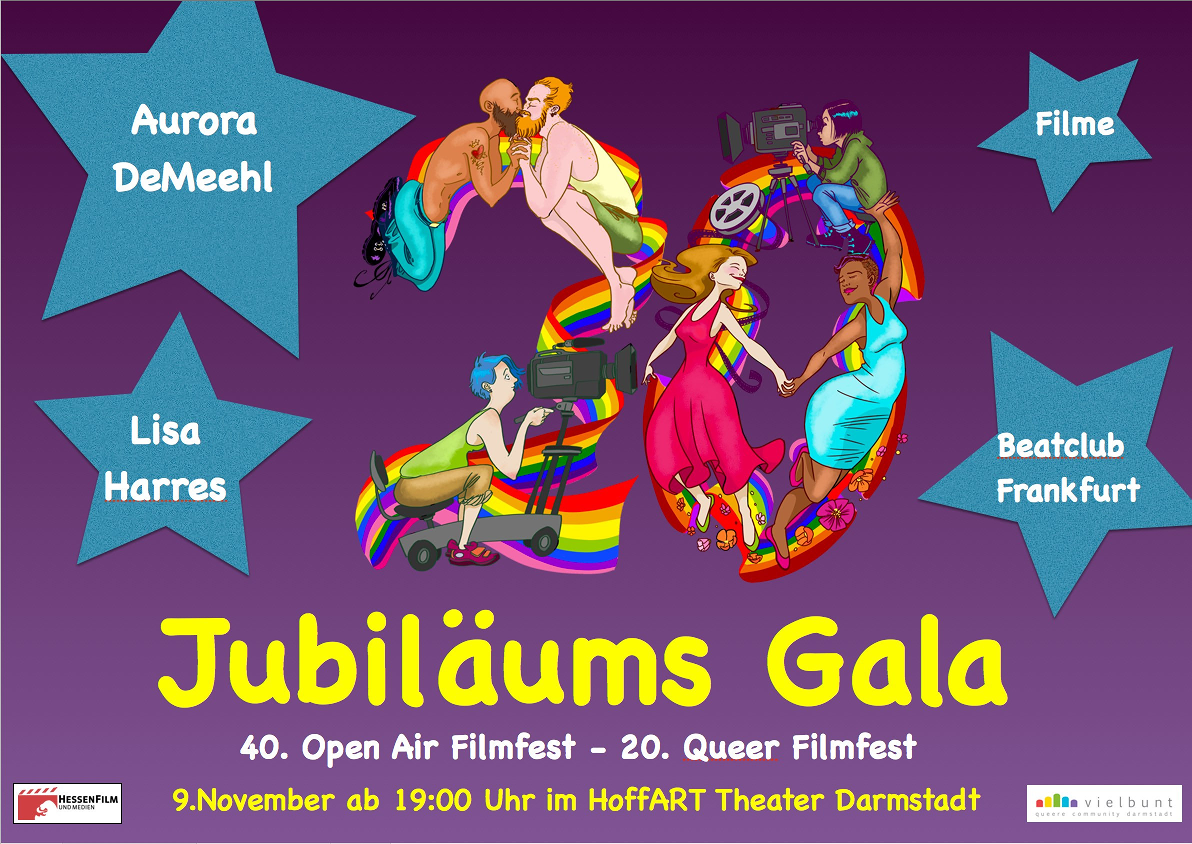 "Jubiläums-Gala  ""40.Open-Air Filmfest – 20.Queer Filmfest"""