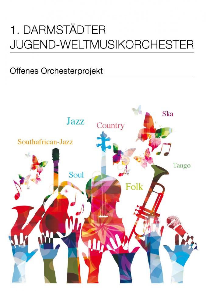 1.Darmstädter Jugend-Weltmusikorchester  Leitung: Uli Partheil