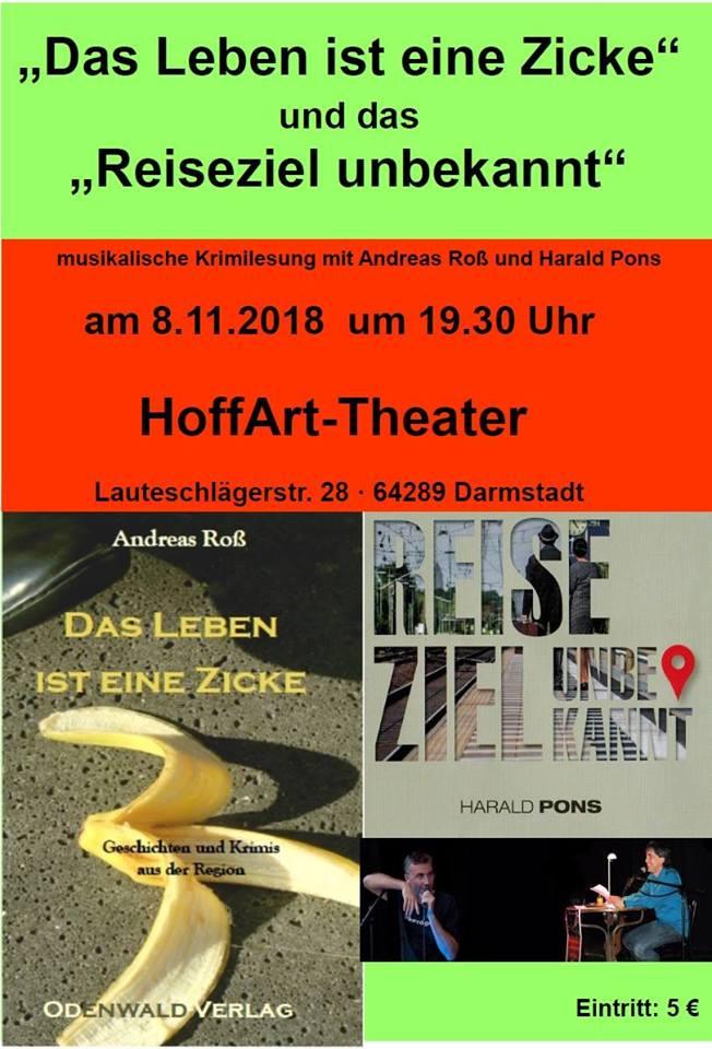 Das Leben ist eine Zicke: Musikalische Krimilesung mit Andreas Roß und Harald Pons