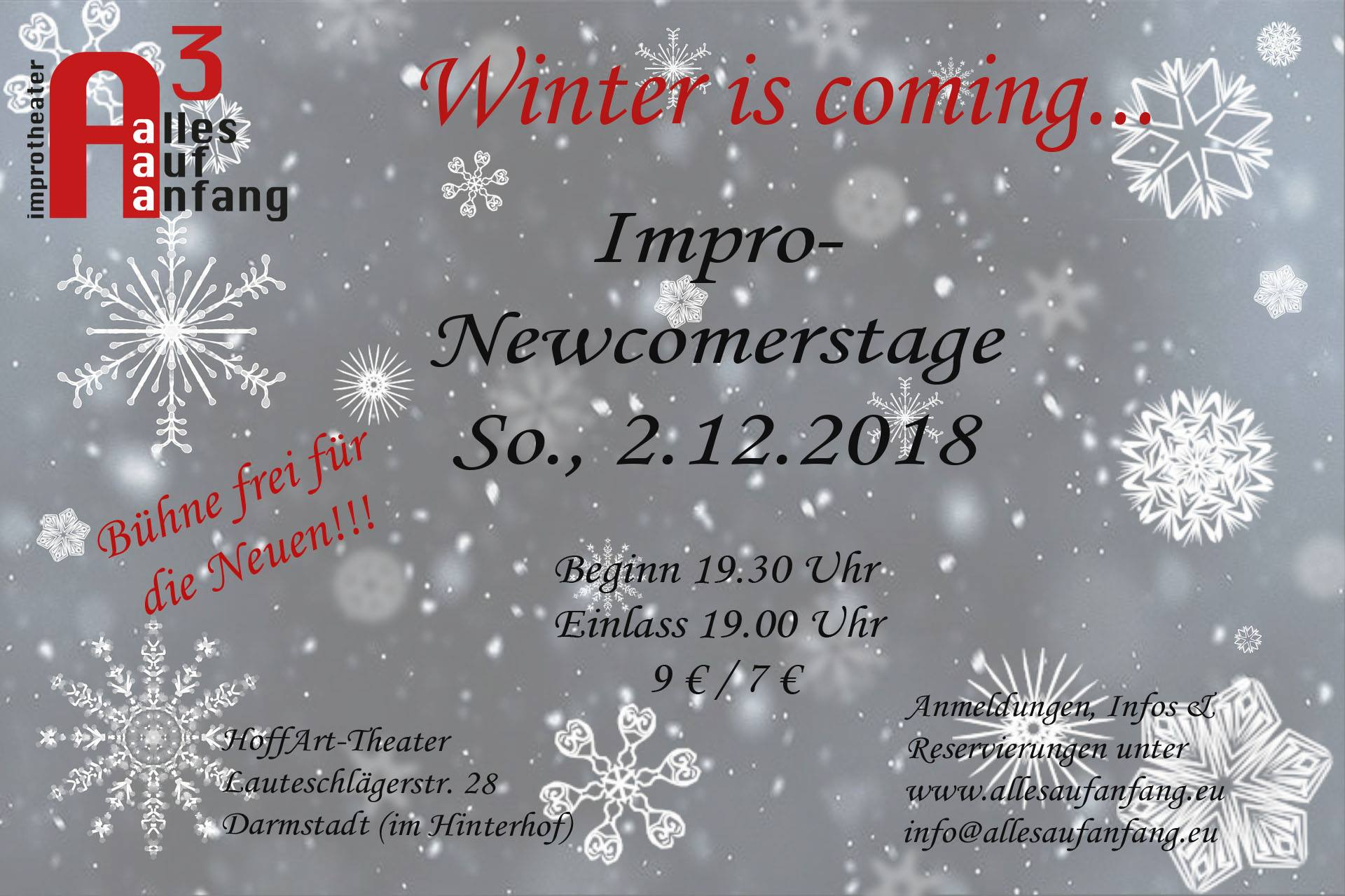 Alles Auf Anfang: Impro – Newcomerstage 2018