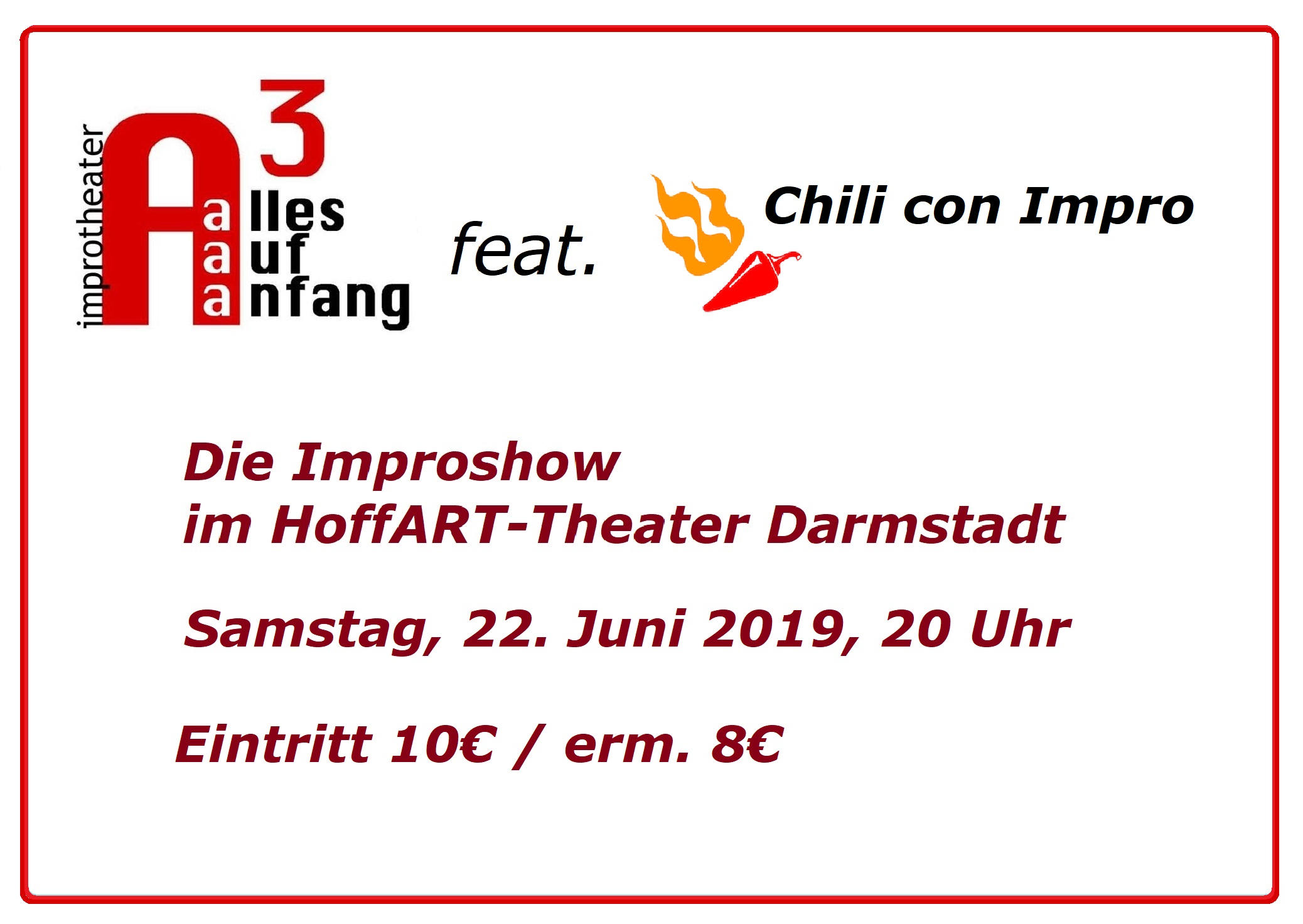 Alles Auf Anfang: Improshow feat. Chili con Impro